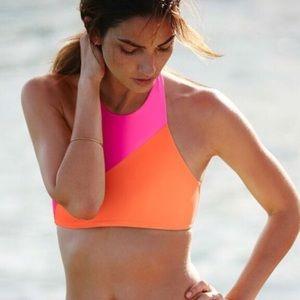 Victoria's Secret high neck colorblock swim top